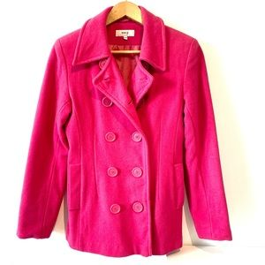 Roxy | part wool pink double breasted coat